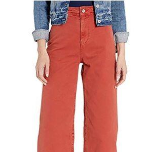Free People chili flak wide leg crop pants sz 29